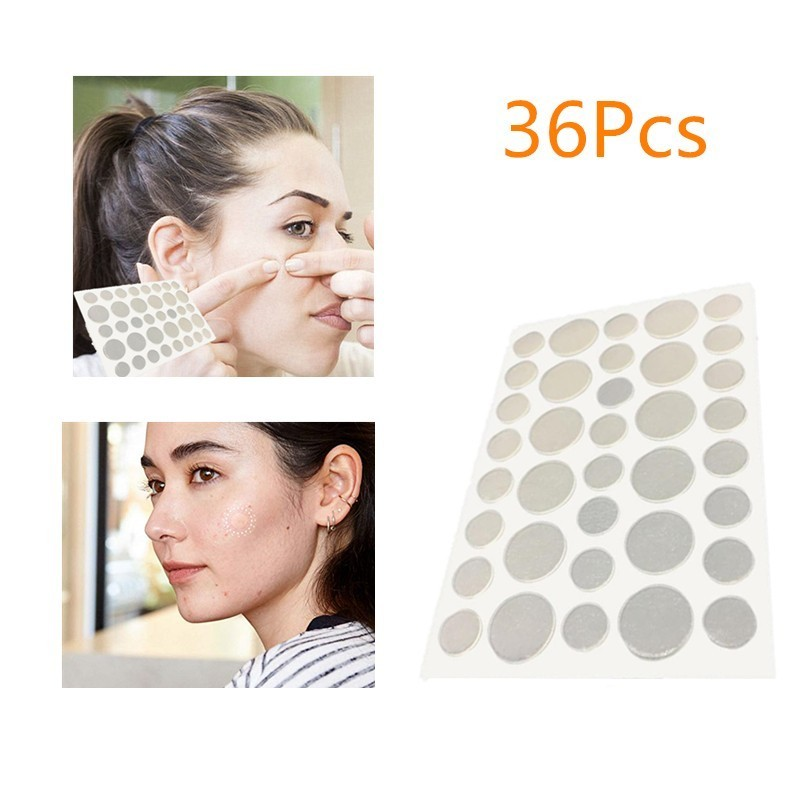 36Pcs Acne Treatment Patch Hydrocolloid Acne Dots Invisible Spot Cover For Acne Absorbing Pimple Healing And Blemish Spot