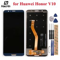 Do wyświetlacza LCD Huawei Honor V10 + montaż digitizera ekranu dotykowego zamiennik dla widoku honorowego 10 BKL AL00 BKL AL20/BKL L09 w Ekrany LCD do tel. komórkowych od Telefony komórkowe i telekomunikacja na