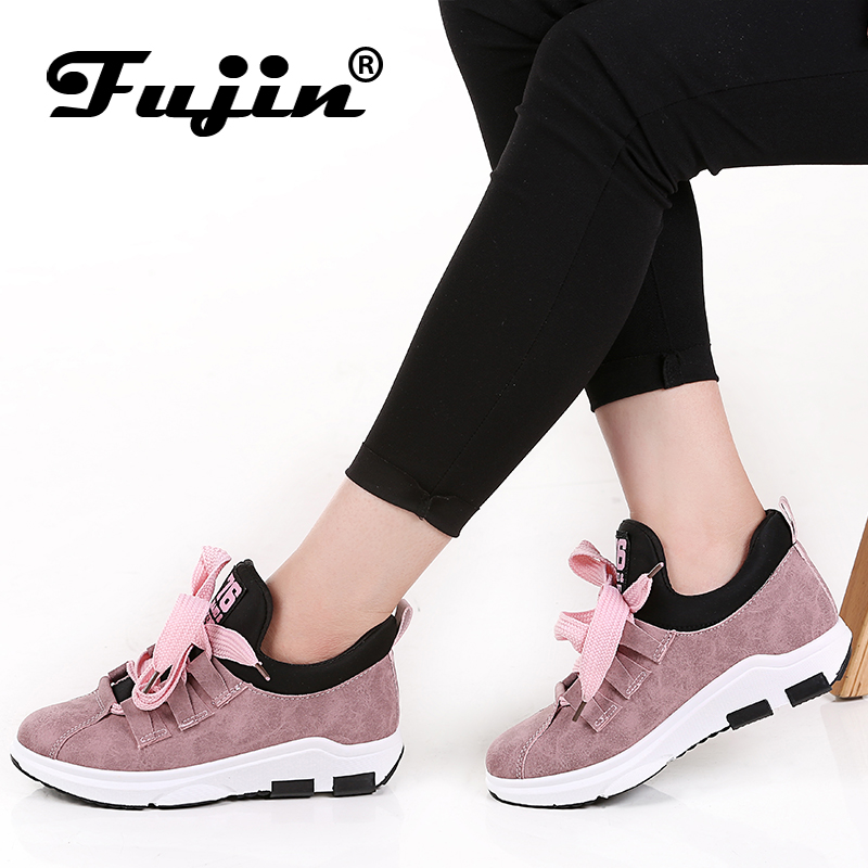 2018 Fujin Spring Summer Autumn women new arrival sneakers Round Toe Female Casual Flats Outdoor Walking Shoes Comfortable Shoes asumer white spring autumn women shoes round toe ladies genuine leather flats shoes casual sneakers single shoes