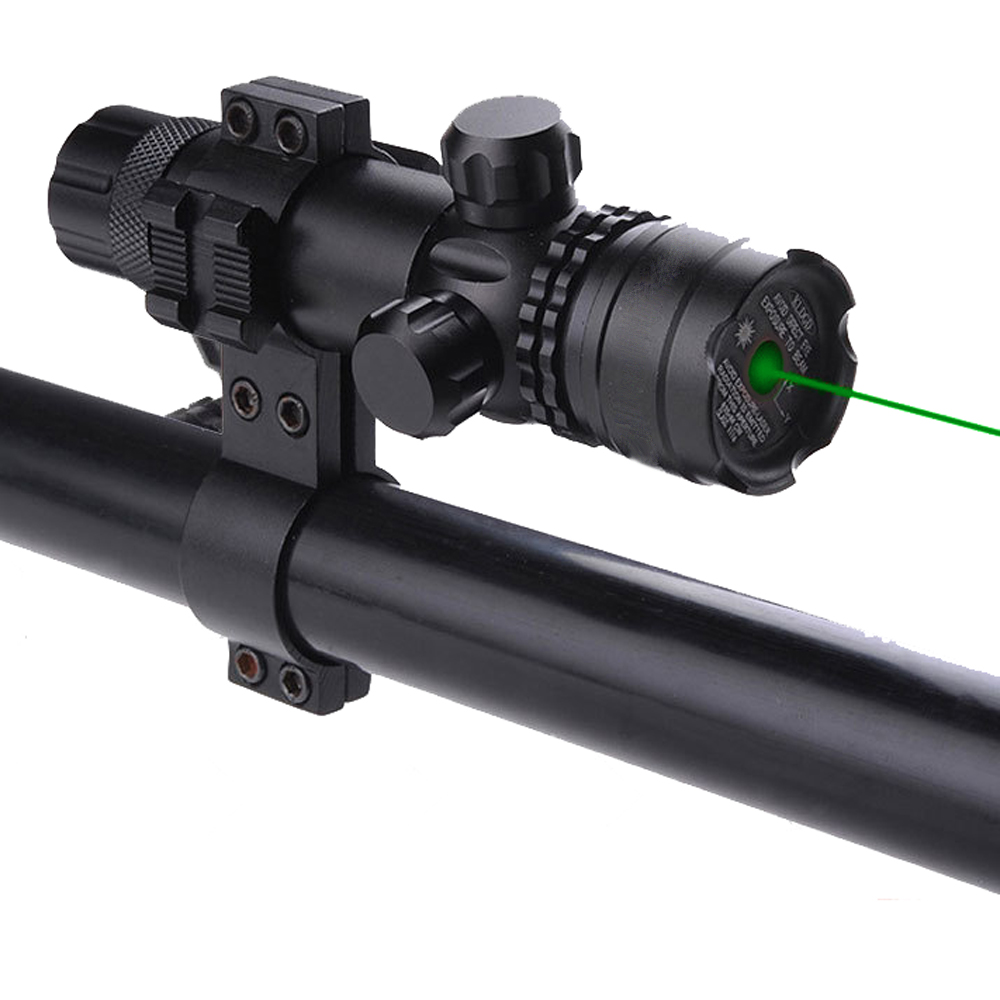 Zeleni laserski cilj Cilj Sight Scope Tactical Sa Mount Airsoft Lov na pištolj za pištolj i pušku 11mm 20mm