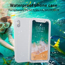 IP68 Real Waterproof Phone Case For iPhone X 8 7 Plus 6 6S Plus Full Protection Cover Under Water Case For iPhone 5 5S XR XS Max(China)