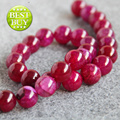For Necklace&Bracelet 14mm Amaranth Red Natural Agate beads Round DIY Jasper jade Loose carnelian 15inch Jewelry making design