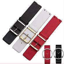 Ms. quartz watch with 22MM black red white leather strap for Ladies series k9423101 | k9423107 | k9423162 watch belt