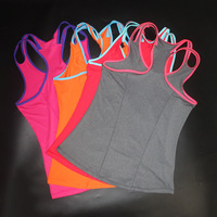 2017 Summer Tops Fitness Tank Tops Sexy T Shirt Women Shirts Round Neck Vest Cropped Sleeveless