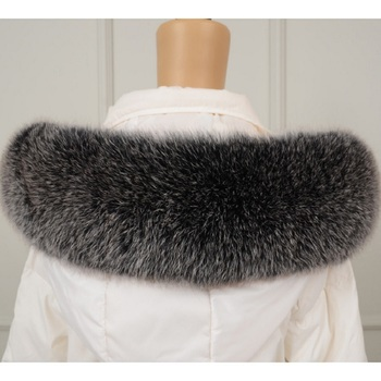 Winter 100% Real Fox fur collar women genuine fox fur scarf 75cm for women Coat Scarves Fur Neck image