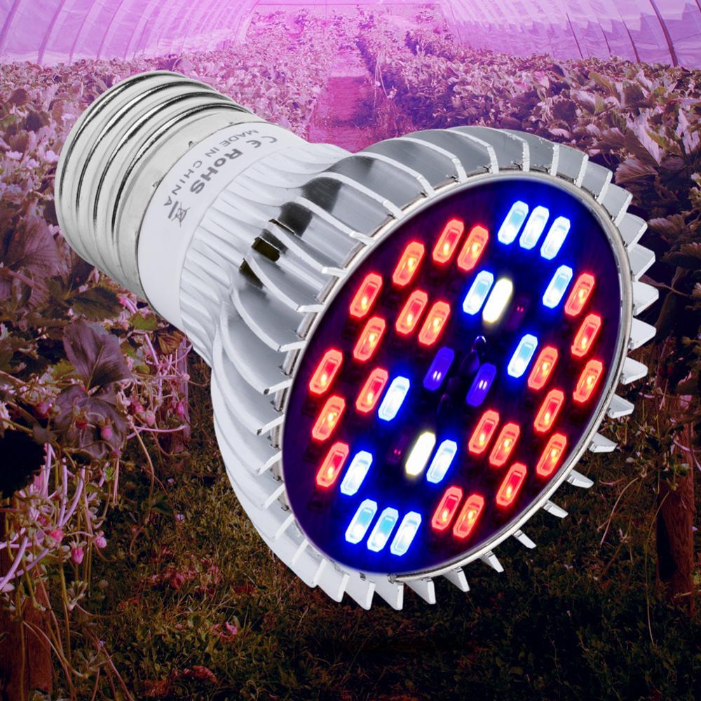 E27 Full Spectrum Led Grow Light E14 Plant Bulb 18w 28w 30w 50w 80w Cultivo Led Phyto Lamp 220v Flowers Indoor Grow Tent Light