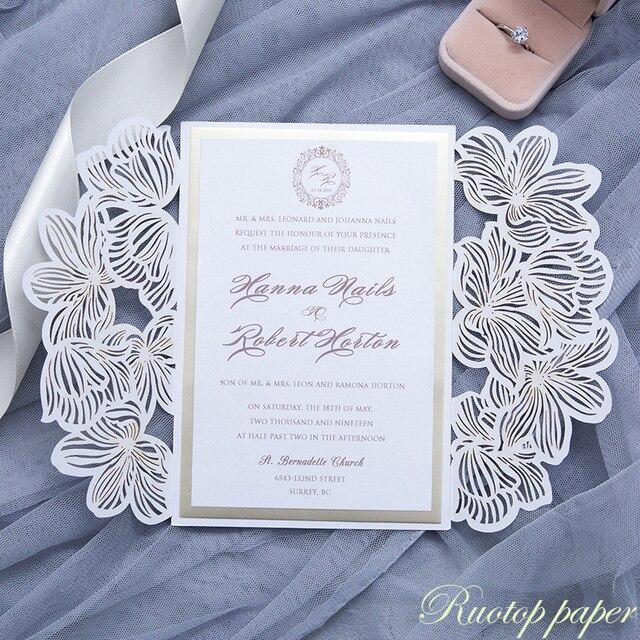 Luxury Pocketfold Wedding Invitations: Aliexpress.com : Buy Luxury Hard Cover Lasert Cut Wedding