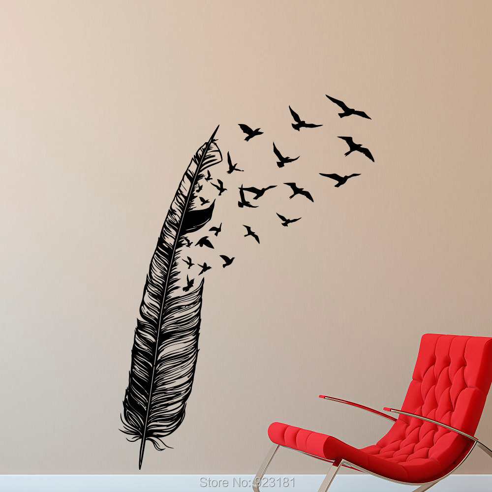 Flying bird wall stickers gallery home wall decoration ideas bird silhouette wall art wall murals ideas popular bird silhouette buy cheap bird silhouette lots from amipublicfo Image collections