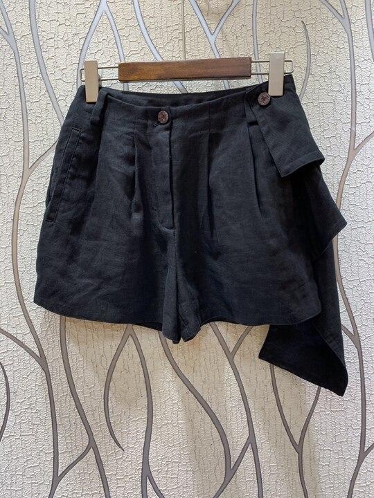 Puro 2019 Verano Cortos Primavera Baituan Negro Borde Costura Color caqui 0327 Pantalones Lotus De Nueva Mujer Irregular Y PptxqR