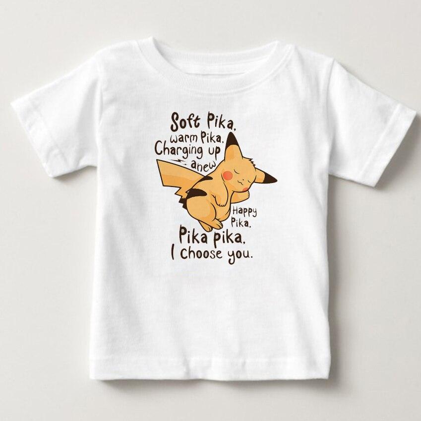 pikachu childrens T ShirtShort Sleeve Crew pokemon Neck Tshirt Costume Boys Girls 2018 Funny T-shirt