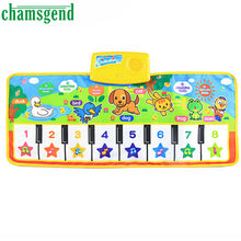 New Touch Play Keyboard Musical Music Singing Gym Carpet Mat Best Kids Baby Gift Levert Dropship Oct 19(China)