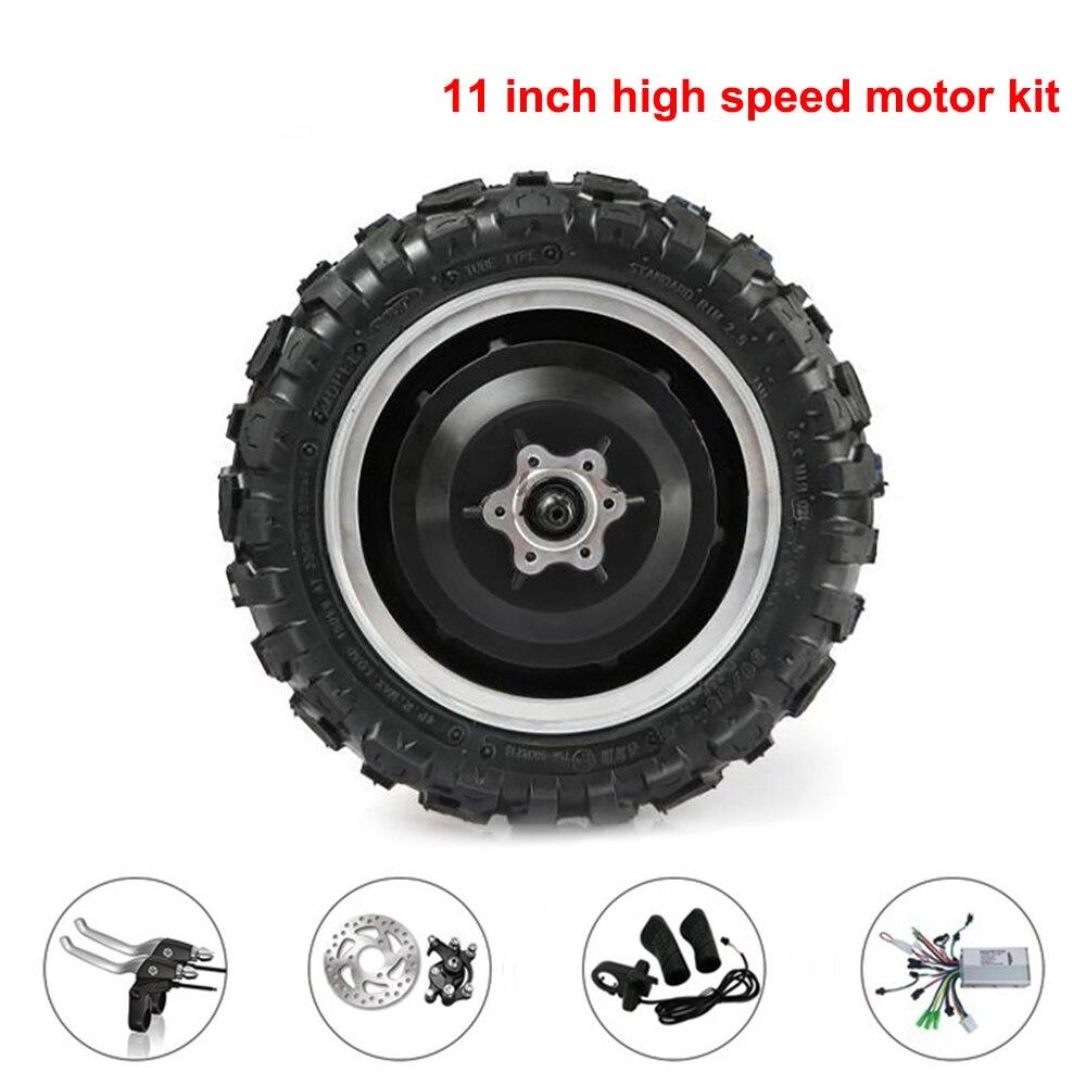 Kit de moteur de moyeu 11 pouces 60 V 72 V 1000 W 1500 W kit de conversion de vélo électrique 270mm roue de moteur de pneu pour Scooter avant 100-120 km/h