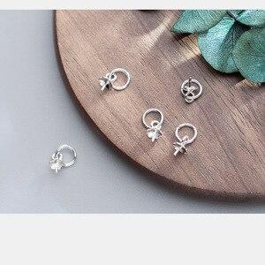 5 шт./лот, коннектор с подвеской из стерлингового серебра 925 пробы и жемчугом, колпачки для ключей 6х4 мм, наконечники для ожерелий и ожерелий, ...