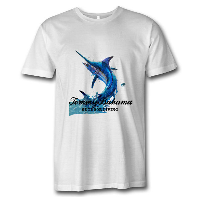 8f9076d5 New Tommy Bahama Fish Marlin Logo White T-Shirt Design Style New Fashion Short  Sleeve New Fashion Men'S T-Shirt