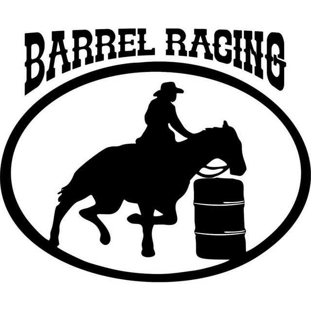 6c8cb26c1bfc2 16 CM   13 CM Barril Cavalo Cowgirl Cowboy de Rodeio Car Stylings Vinyl  Decal Adesivos