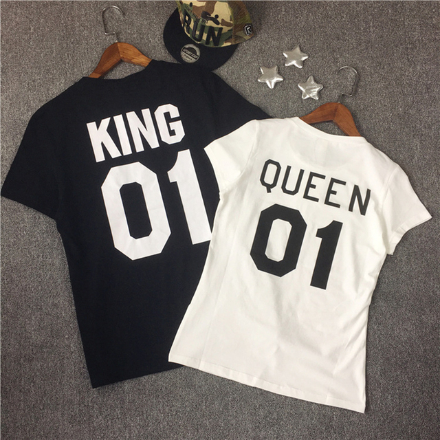 Family Look Short Sleeved T-shirt Father Son Mother and Daughter Clothes 01 King Queen Princess Prince Family Matching Outfits 1