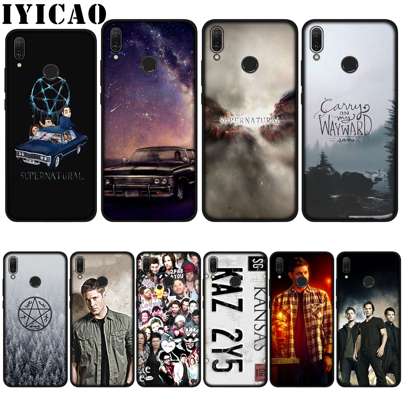 IYICAO Supernatural Jared Padalecki Soft Case for Huawei P20 Pro P10 P8 P9 P30 Lite Mini 2017 P Smart 2019 Cover image