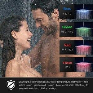Image 2 - Bathroom Faucet Black Bronze Rain Shower Bath Faucet Ceiling Mounted Bathtub Shower Mixer Tap Bathroom Shower Faucet Shower Set