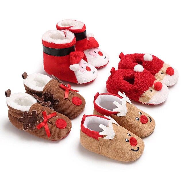 319a384a Zapatos de Navidad para bebé, botas de nieve cálidas para recién nacidos,  zapatillas de