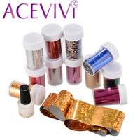 12 Pcs Nail Sticker Plastic Nail Art Supplies Transfer Foil Nail Tip Stickers Decorations And Glue