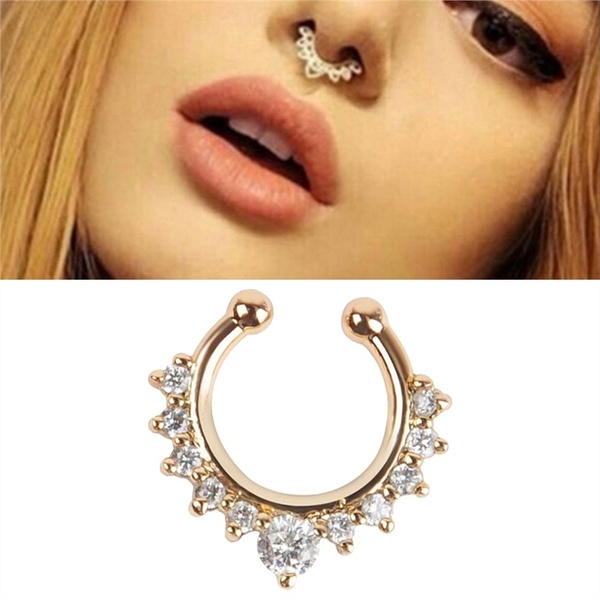 Numbers-Hanger Hoop Jewelry Nose-Ring Septum Clicker Fake Piercing for Hot-Sale Arrival-Alloy
