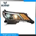 Coche LED tira de la lámpara de la cabeza para Toyota RAV4 faros 2013 2015 LED de señal de vuelta de las luces de Bi xenón lente
