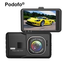 Original Podofo 3.0 polegada Câmera Do Carro DVR FHD 1080 P WDR Visão Noturna Registro de Detecção de Movimento Gravador de Vídeo Blackbox Traço Cam