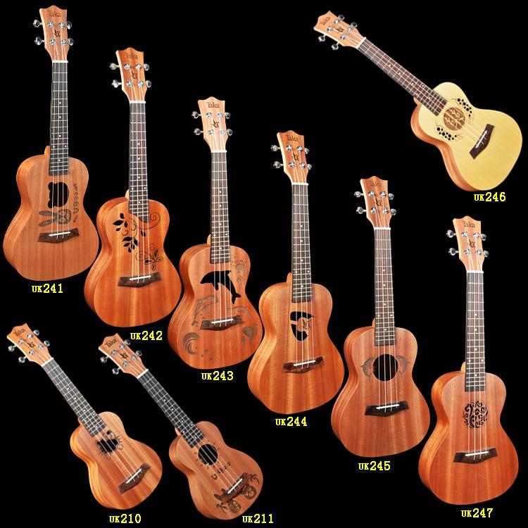 uk246 Solid  engelmann spruce   back Sapele   Top Concert Ukulele 24 inch   Guitar Rosewood Bridge Matt magnum live in concert