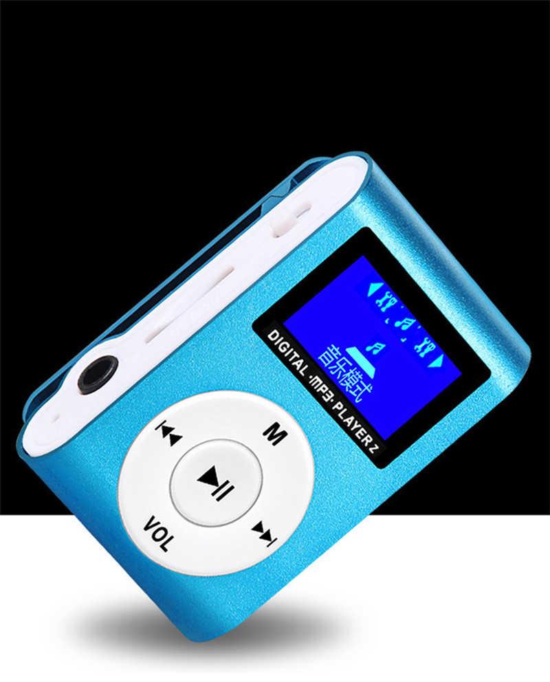 ファッション画面カード MP3 ミニ金属アルミニウムクリップカード MP3 プレーヤー学生 MP3 ギフト