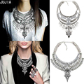 2017 Hot sale chain silver big long metal women necklace&pendant collar gold maxi choke chunky vintage statement Necklace women