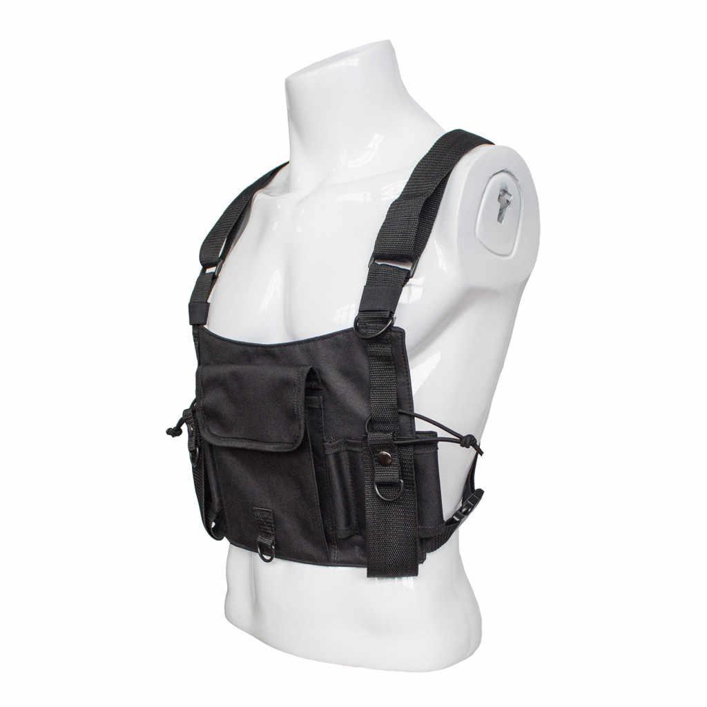 في الهواء الطلق راديو حمل حقيبة الصدر جيب العالمي حقيبة الحافظة ل اتجاهين راديو سترة الأمن التكتيكية سترة