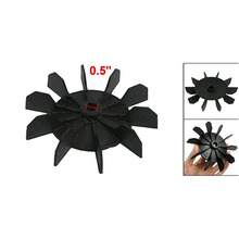 High Quality Replacement Air Compressor Part 12mm Inner Dia 10 Impeller Air Compressor Motor Fan Blade Black 95% new good working for air conditioner inner machine motor rps15f 1 220v motor fan