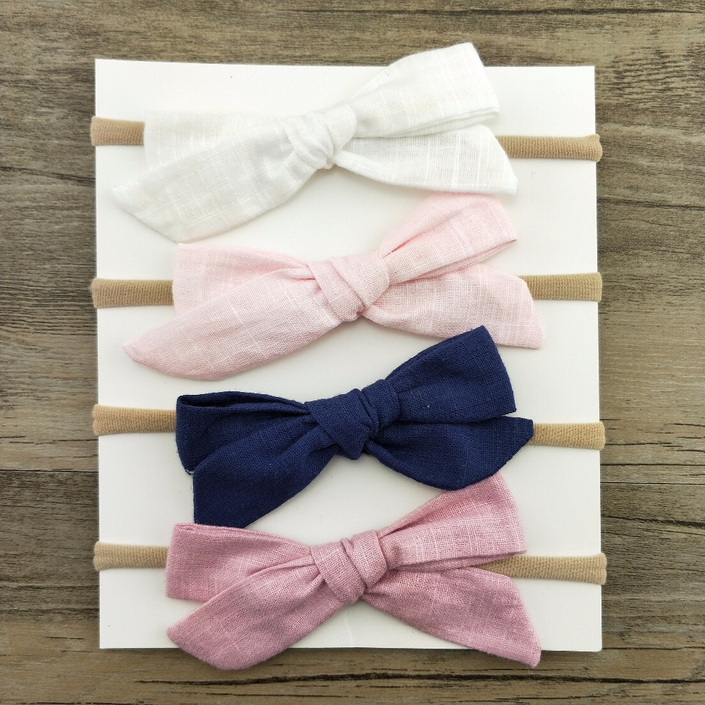 1pcs Girls Nylon Headband Hair Bows Head Band Elastic Bowknot Hairband for Children Kids Toddler Hair Accessories Headwear 10pcs set nylon headband for baby girl hair accessories elastic head band kid children fashion headwear