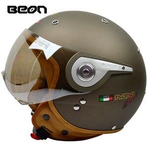 Image 5 - באון בציר מכביש מוטוקרוס Feminino אופנוע חצי קסדת ראש כיסויי ראש קסדה capacete casco רכיבה עבור קסדות