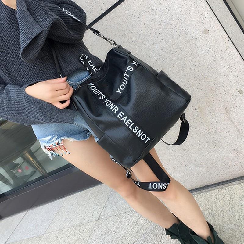 Women Backpack High Quality PU Backpacks For Teenage Girls Female School Shoulder Letter Chain Bag Bagpack Mochila 2019