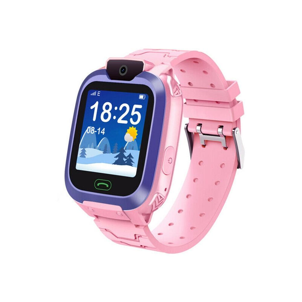 Trendy Children GPS Smart Phone Clock Watch Swimming Baby Watch SOS Device Tracker Locator Children Safe Anti-Lost Monitor #F