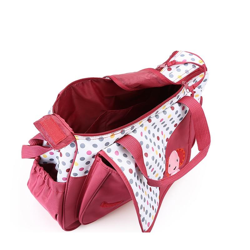 Купить с кэшбэком MOTOHOOD 5pcs Baby Diaper Bags For Mom Changing Nappy Bag Sets Mommy Baby Care Carriage Stroller Bag Organizer 30*43*14cm