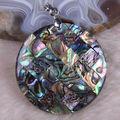 Free Shipping New without tags Fashion Jewelry Natural New Zealand Abalone Shell Pendant 1Pcs RK711