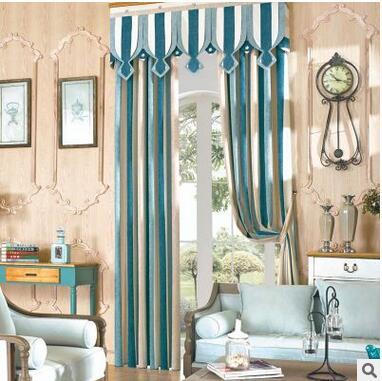 Online get cheap blauw wit gestreepte gordijnen alibaba group - Gordijnen voor moderne woonkamer ...