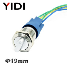YIDI 19mm Metal Selector Rotary Switch 2 3 Position push button switch 1no1nc 2no2nc dpst knob switch latching on off цена