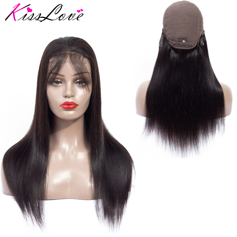Kiss Love Lace Frontal Human Hair Wigs Brazilian Hair Wigs For Women Straight Lace Frontal Wigs Remy Hair Bleached Knots Without Return Lace Wigs