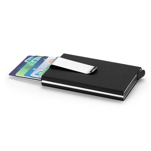 Online shop qoong travel card wallet automatic pop up id credit card online shop qoong travel card wallet automatic pop up id credit card holder men women business card case stainless steel metal clip 1 005 aliexpress colourmoves
