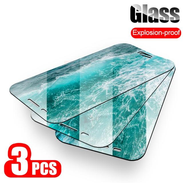 Protector de pantalla de vidrio templado 9H 2.5D, para Samsung Galaxy A7, A9, 2018, J6, A6, A8, J4 Plus, A5, 2017, 3 uds.