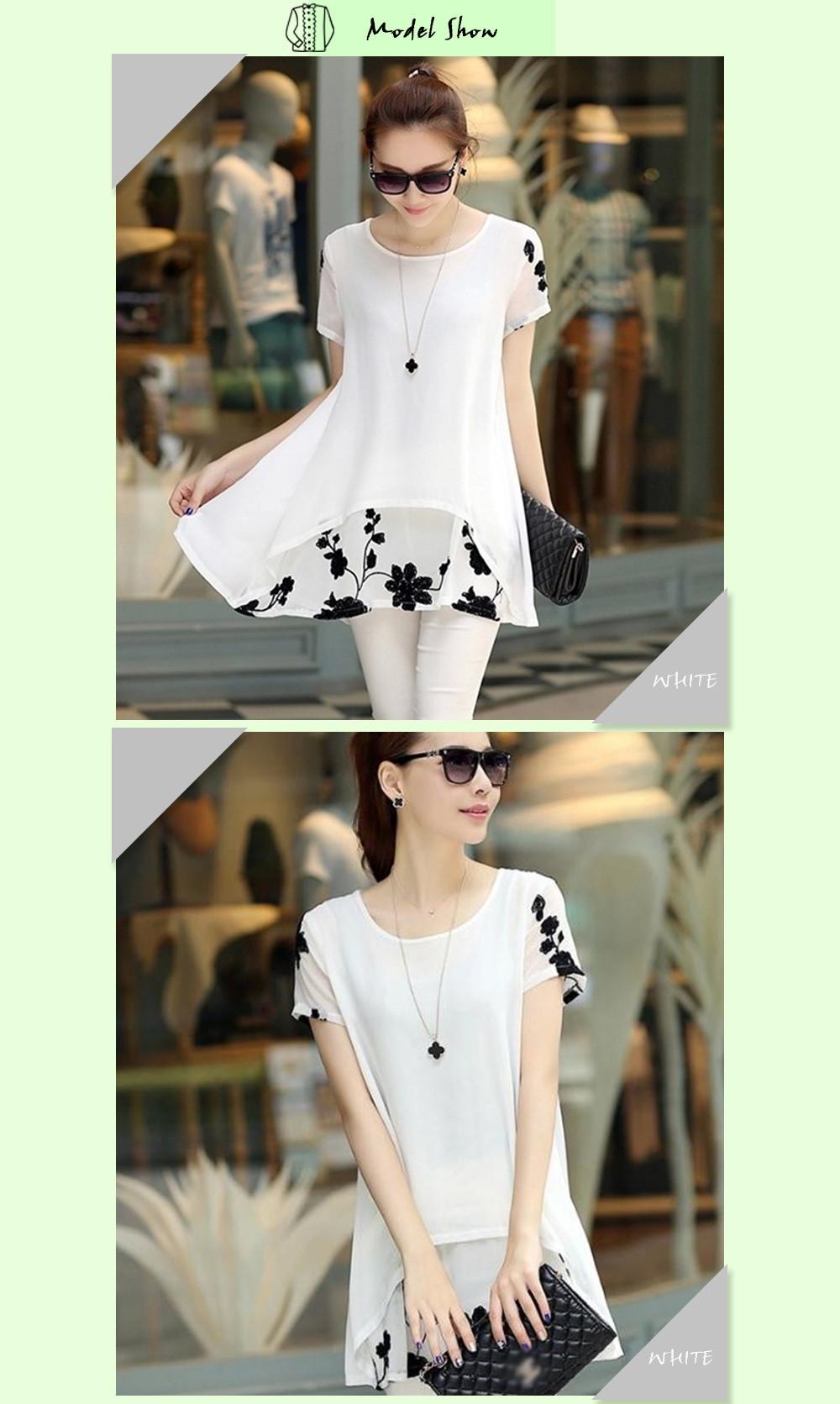 HTB1hDaLOFXXXXXaaXXXq6xXFXXXG - Plus Size 5XL Chiffon Blouse Women Clothing Loose Short Sleeve
