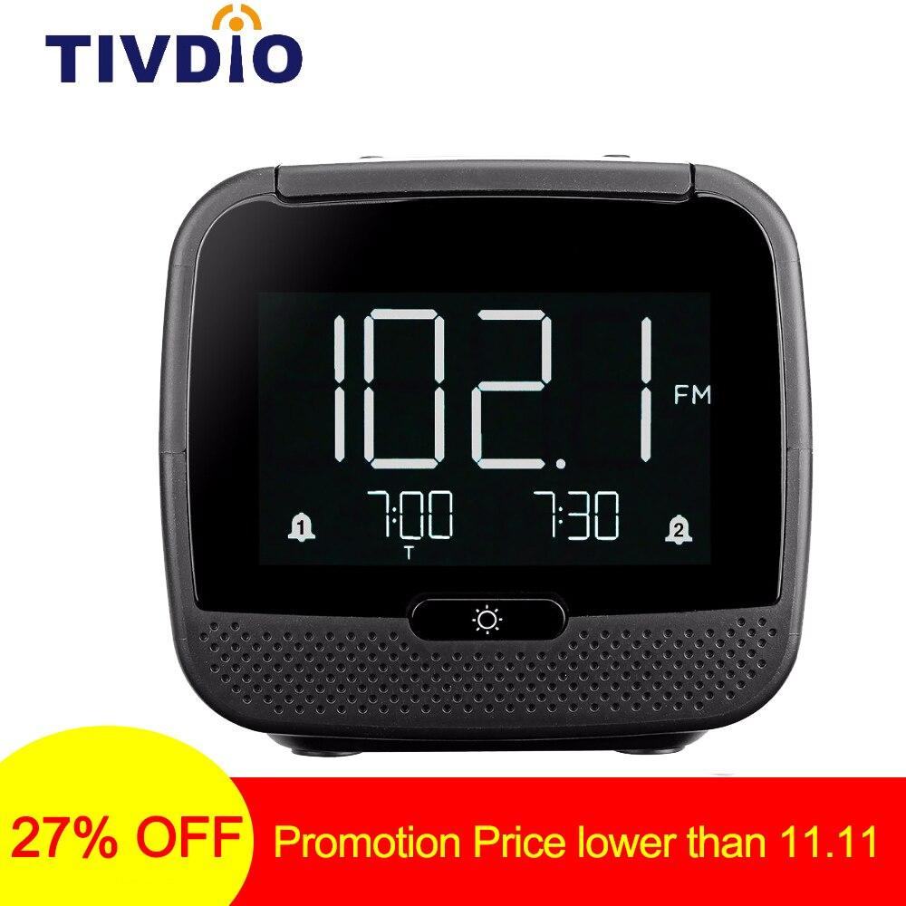 Radio Unterhaltungselektronik Tivdio Cl-11b Digitale Bluetooth Lautsprecher Dual Wecker Fm Radio Mit Schlaf Timer Snooze Temperatur Display F9209a Durchblutung Aktivieren Und Sehnen Und Knochen StäRken
