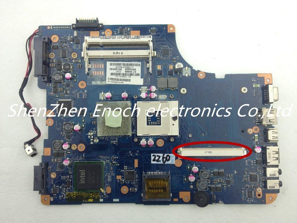 Здесь можно купить  For Toshiba satellite L500 laptop Motherboard   with graphics slot DDR2 K000080430 KSWAA LA-4981P For Toshiba satellite L500 laptop Motherboard   with graphics slot DDR2 K000080430 KSWAA LA-4981P Компьютер & сеть