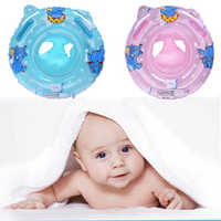 Inflatable Baby Swimming Ring Circle Kids With Cushions Floating Aid Cute Patterns Pool Float Swim Rings