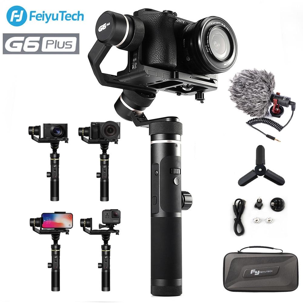 FY FEIYUTECH G6 Plus stabilisateur de cardan portable 3 axes WIFI Bluetooth OLED écran pour caméra d'action appareils photo numériques Smartphones