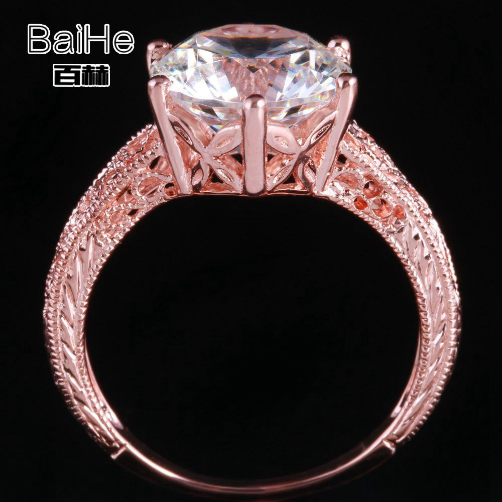 Creative Aaa Graded Cubic Zirconia Ring 14k Real Yellow Gold Antique Wedding Bridal Ring Jewelry & Watches Engagement & Wedding
