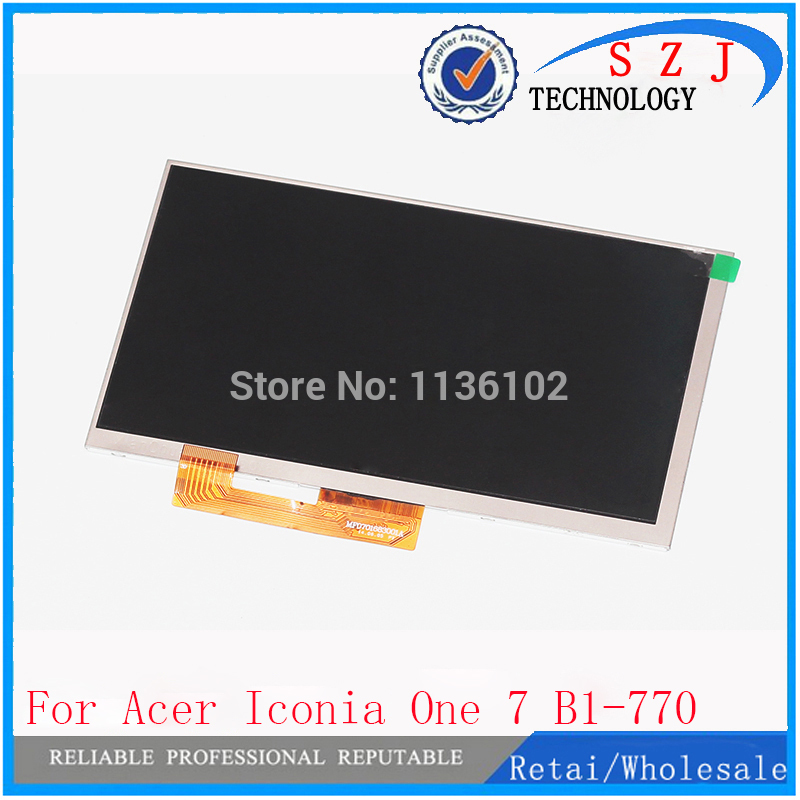 New 7'' inch B1-770 LCD Display For Acer Iconia One 7 B1-770 A5007 Screen B1-770 LCD Panel Free Shipping for acer iconia one 7 b1 750 b1 750 black white touch screen panel digitizer sensor lcd display panel monitor moudle assembly